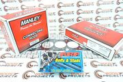 Manley Pistons And Rods And Arp Head Stud Kit W/ Cometic Gasket For Supra 2jzgte 3.4