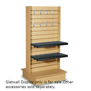 Maple Wood Double Sided Slatwall Display 25.5 W X 24 D X 54 H Inches