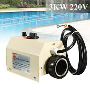 Electric Water Heater 3kw 220v Swimming Pool Spa Hot Tub Heater Thermostat