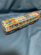 Vintage Paa Air Lines Tin Friction Bus Made In Japan F/s Pan American World Air