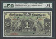 Jamaica One Pounds 2-1-1919 Ps131s Specimen Uncirculated