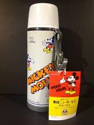 Zojirushi Walt Disney Mickey Mouse Metal Thermos With Tag From Japan Nm Unused
