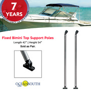 Oceansouth Fixed Bimini Top Support Poles 42 Length Fits 54 Height Frame