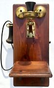 Rare Vintage Automatic Electric Co. Wood Brass Telephone Signed R.w. Conrad 1966