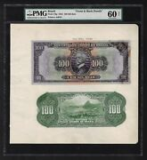 Brazil Face And Back 100 Mils Reis July 1924 P70p Proof Uncirculated