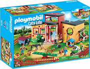 Playmobil 9275 City Life Tiny Paws Pet Hotel With Flexible Outdoor Fence,