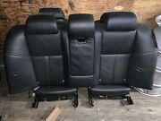 2006-2010 Bmw E60 M5 550i Seat Set Leather Black Complete Front And Rear Oem