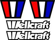 Set Of 4 Wellcraft Boat Decals Scarab Racing Fishing Vintage Wc01