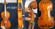 Baroque Style Song Brand Art Inlay/drawing Electric And Acoustic Violin 4/4 11691