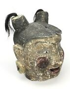 Traditional Vintage Burmese Puppet Head, Extra Large Size 36cm High, Articulated