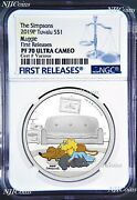 2019 The Simpsons Maggie Simpson Proof 1 1oz Silver Coin Ngc Pf 70 Fr Pf70