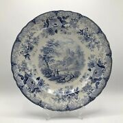 Historic Belle Vue Pottery Hull Blue And White Transferware Plate Durham Cathedral