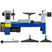 Mini Wood Lathe 8''x12'' Variable Speed Benchtop 1/3 Hp 500-3200rpm Tool Rests