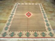 Barkat Rugs Hand-woven Turkish Reversible Kilim Wool Size 5.8 X 8.3 Brrsf-1605