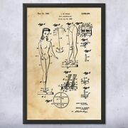 Framed Doll Construction Wall Art Print Toy Lover Gift Toy Store Art Retro Doll