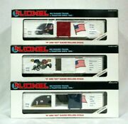 Lionel 6-19599 The Old Glory Series Set Of Reefers 6-19516 6-19517 6-19518 Usa