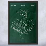 Framed Super Snes Video Game System Wall Art Print Classic Retro Gaming