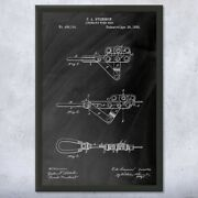 Framed Linemans Wire Grip Print Cable Puller Winch Blueprint Lineman Gift