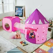 3pc Kids Princess Castle Play Tents And Tunnel Set, Indoor Toy Super Fast Ship