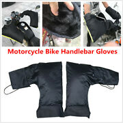 2x Motorcycle Bike Scooter Handlebar Gloves Hand Muffs Cycling Winter Warm Mitts