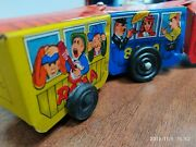 Vintage Tin Toy Wind Up Train Western Comic Zig-zag Made In Korea