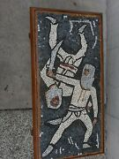 Unique Tile Mosaic Coffee Table Mid Century Modern Abstract Fencing Sword