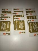 Vintage Replacement Original 9 Hay Cards 1973 Pit Card Game Parker Brothers