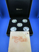 2011 1 Tuvalu - Heroes And Villains - 1oz Silver Proof 5 Coin Set
