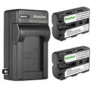 Kastar Np-fm500h Battery + Charger For Sony A700 A900 A550 A450 A99 A65 A77 A58