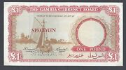 Gambia One Pound Nd 1965 P2s Proof Specimen Different Color About Uncirculated
