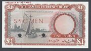 Gambia One Pound Nd 1965 P2s Color Trial Uncirculated