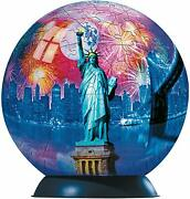 Ravensburger 6 New York City - 240 Piece 3d Puzzleball - With Stand -