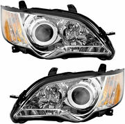Fits For Subaru Legacy 2008 2009 Headlight Halogen W/chrome Right And Left Pair