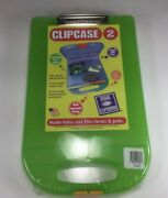 Case Of 6 Dexas Clipcase 2 Storage Clipboard W/rounded Handle Green 2717j106