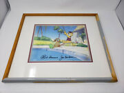 Top Cat Hand Painted Animation Production Cel Signed By Hanna-barbera 1988