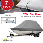 Oceansouth T-top Boat Cover 30ft7 To 31ft6 Length 120 Width