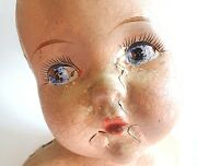 Antique Gerber Baby Doll Head Bust Store Display Advertising Chippy Composite