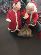 """Annallee Doll Vintage Christmas Santa And Mrs. Claus 29"""""""