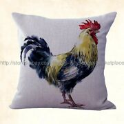 Farmhouse Animal Rooster Chicken Replacement Cushion Covers
