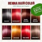 Organic Natural Henna Hair Color / Dye With Free Hair Brush, Gloves,shower Cap