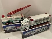 Hess Gasoline Toy Truck And Racer 1997 Hess Emergency Truck 1996