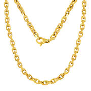 14k Yellow Gold Handmade Fashion Link Chain Necklace 26 4.5mm 48.1 Grams