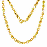14k Yellow Gold Handmade Fashion Link Chain Necklace 28 4.5mm 51.8 Grams
