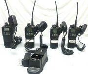 Lot Of 4 Ef Johnson Ascend Es 5100 700/800 Mhz P25 Radios W/ Mics + Charger