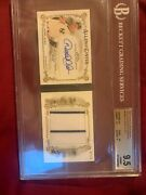 Derek Jeter Auto Topps Allen And Ginter 2017 Limited Edition 2/10 Game Used Jerz
