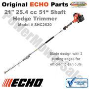 Shc2620 Echo 25.4 Cc Gas 2-stroke Cycle 21 Double Sided Hedge Trimmer 51 Shaft