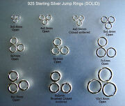 925 Sterling Silver Jump Rings,solidopened And Closed Jump Rings Soldered, Round