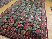 Antique 5x8 5x7 Caucasian Date Signed Oriental Rug Floral French Design Navy