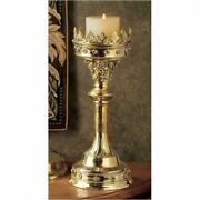 Cathedral Gothic Style Replica Solid Brass 19 Candlestick