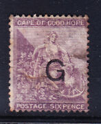 S.africa Griqualand West Sg13a 6d Of Cogh Opt G Type 6 Heavy M/m Repair Cat Andpound850